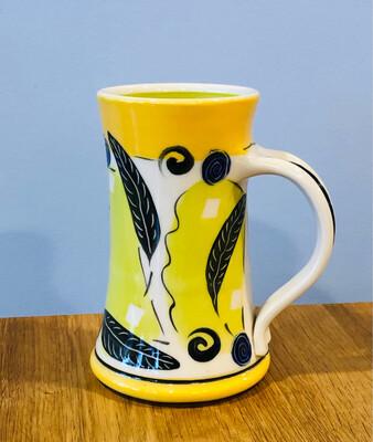 Orange Mug Green Inside - Keffer