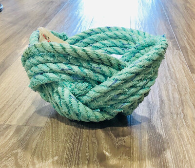 Large Recycled Lobster Rope Bowl, Aqua - All for Knot