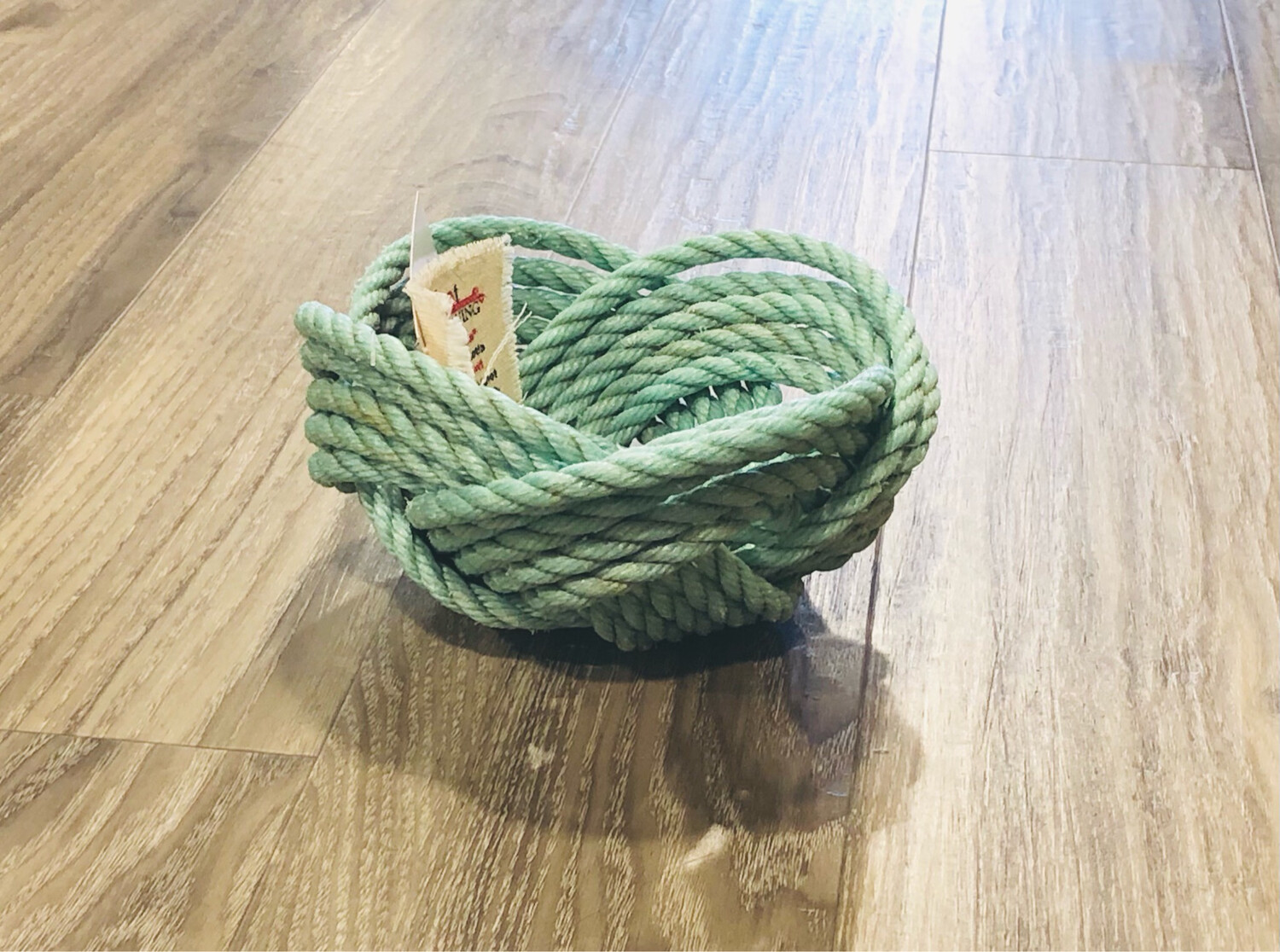 Small Lobster Rope Bowl, Aqua - All for Knot