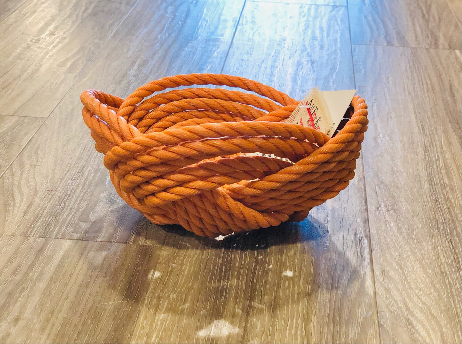 Small Lobster Rope Bowl, Orange - All for Knot