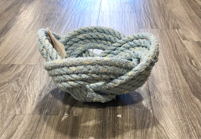 Large Lobster Rope Bowl, Pale Blue - All for Knot
