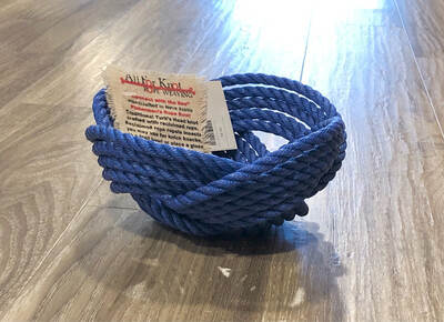 Small Lobster Rope Bowl, Navy - All for Knot