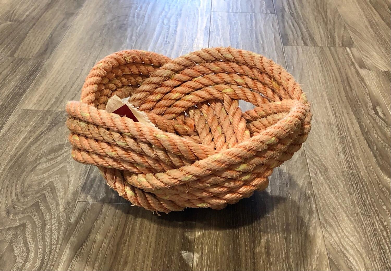 Large Lobster Rope Bowl, Orange - All for Knot