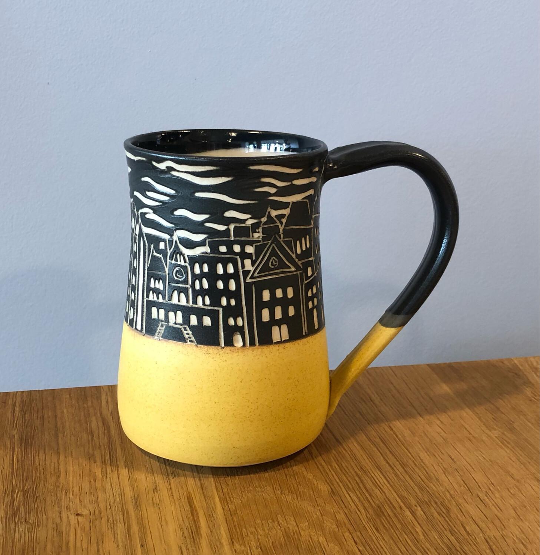 Halifax Skyline Mug - Yellow