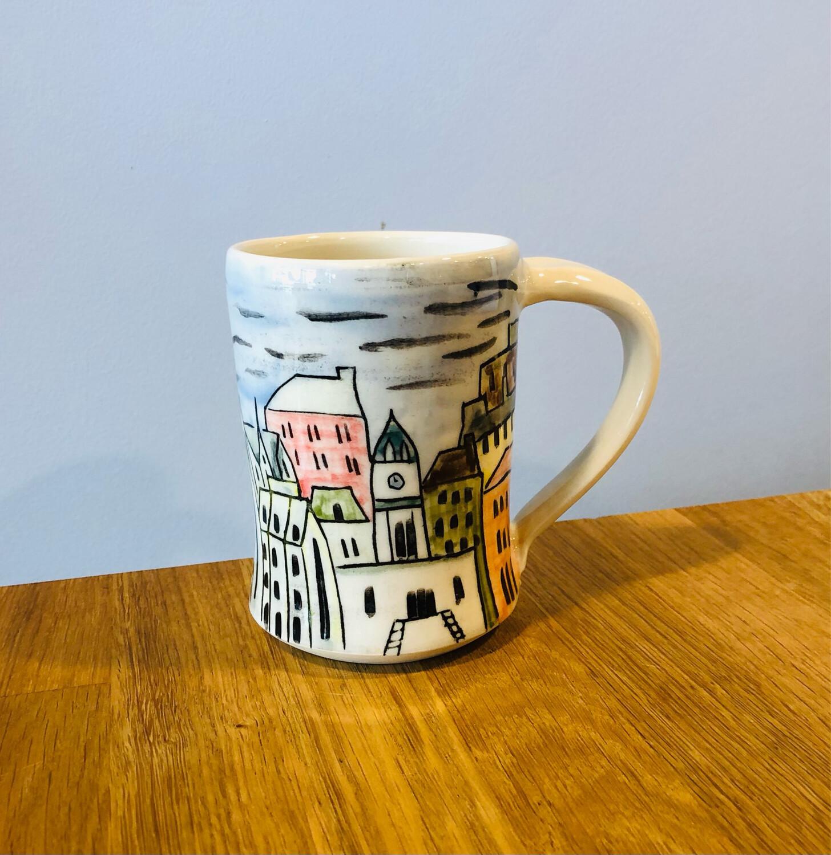 Painted Skyline Mugs