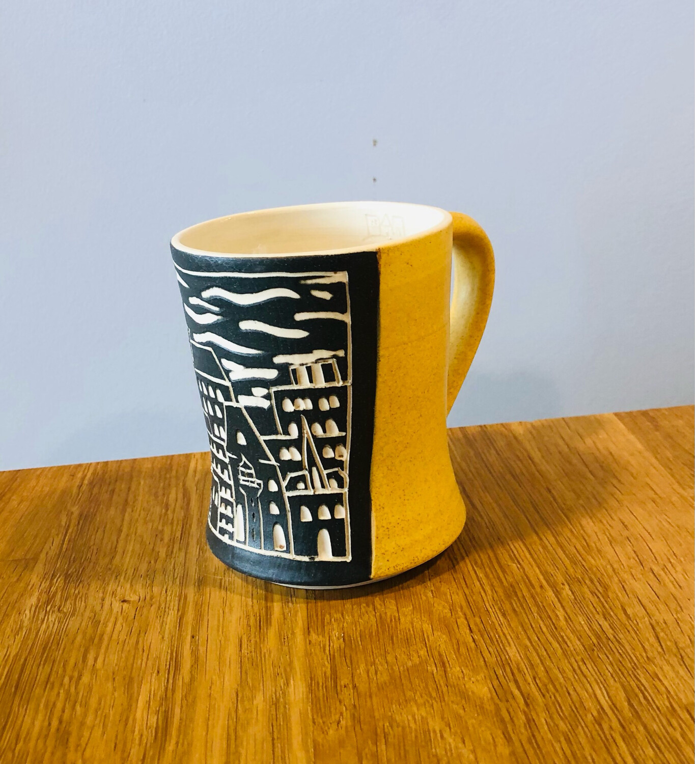 Skyline Panel Mug - Yellow