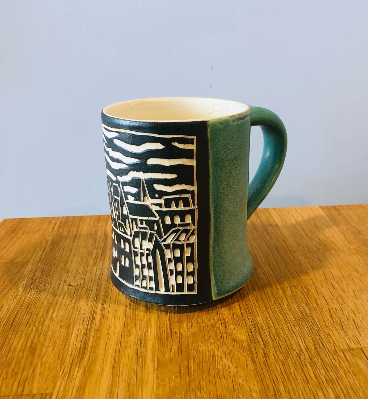 Skyline Panel Mug - Teal