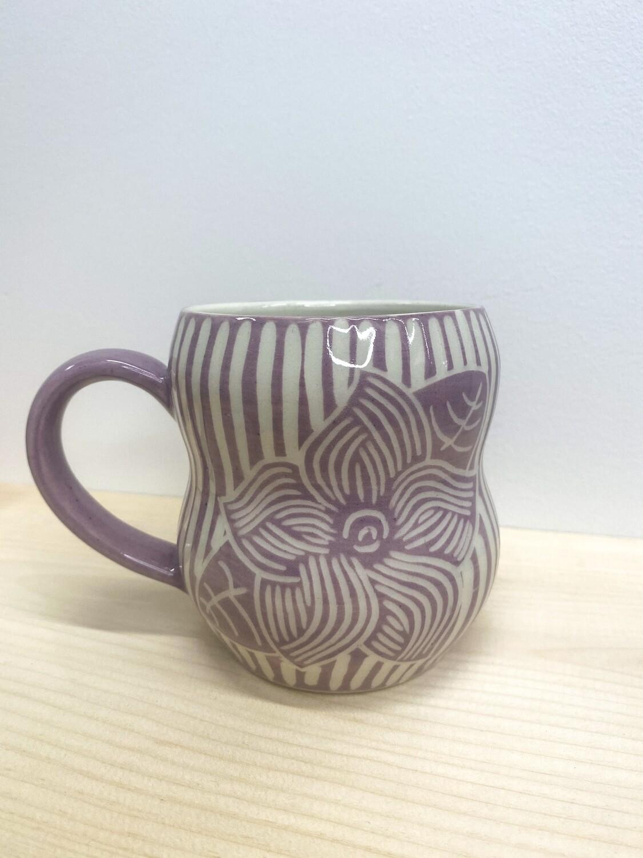 KG Ceramics - Lavender Mayflower Mug