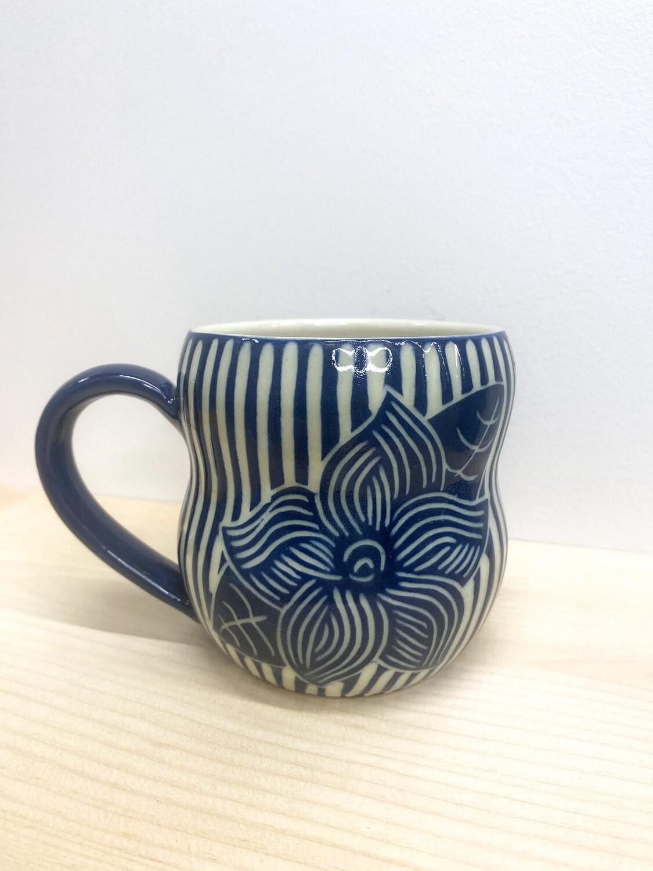 KG Ceramics - Blue Mayflower Mug