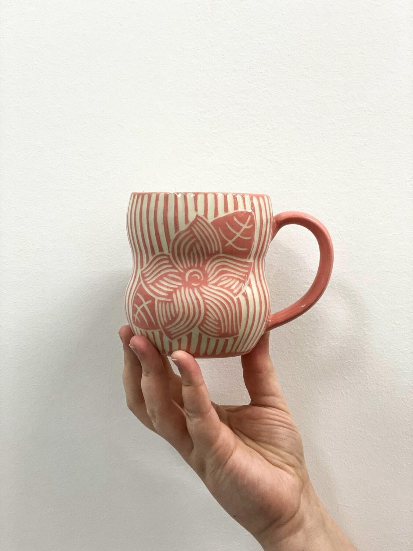 KG Ceramics - Pink Mayflower Mug