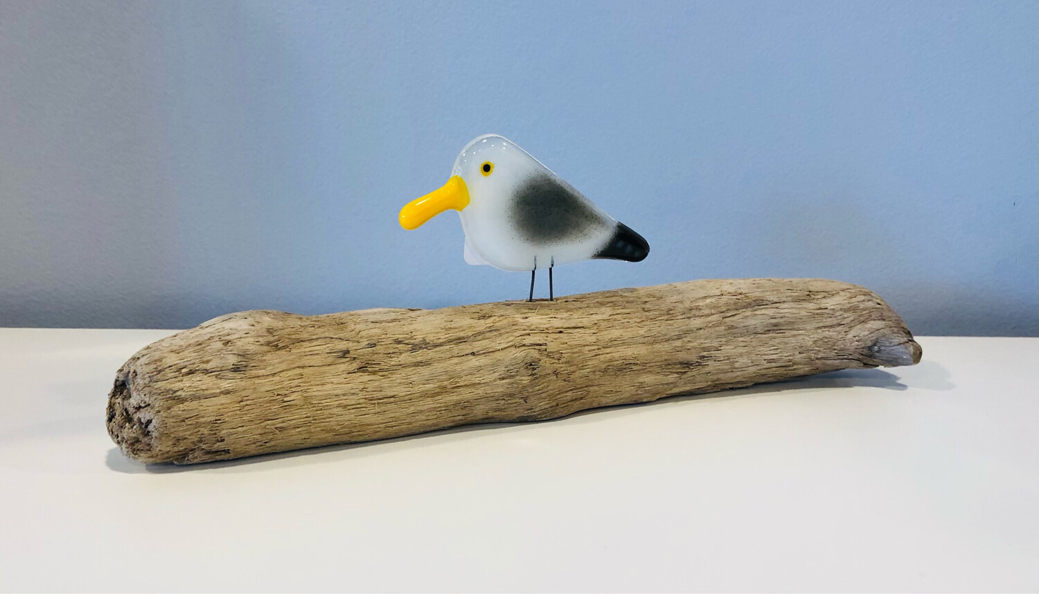 Glass Seagull on Perch