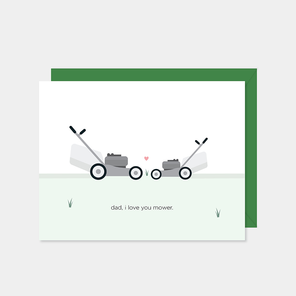 Dad, I Love You Mower Card