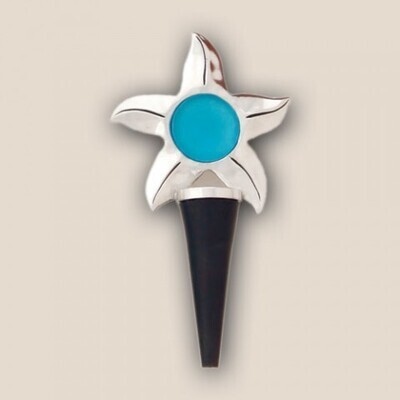 Seastar With Turquoise Bottle Stopper