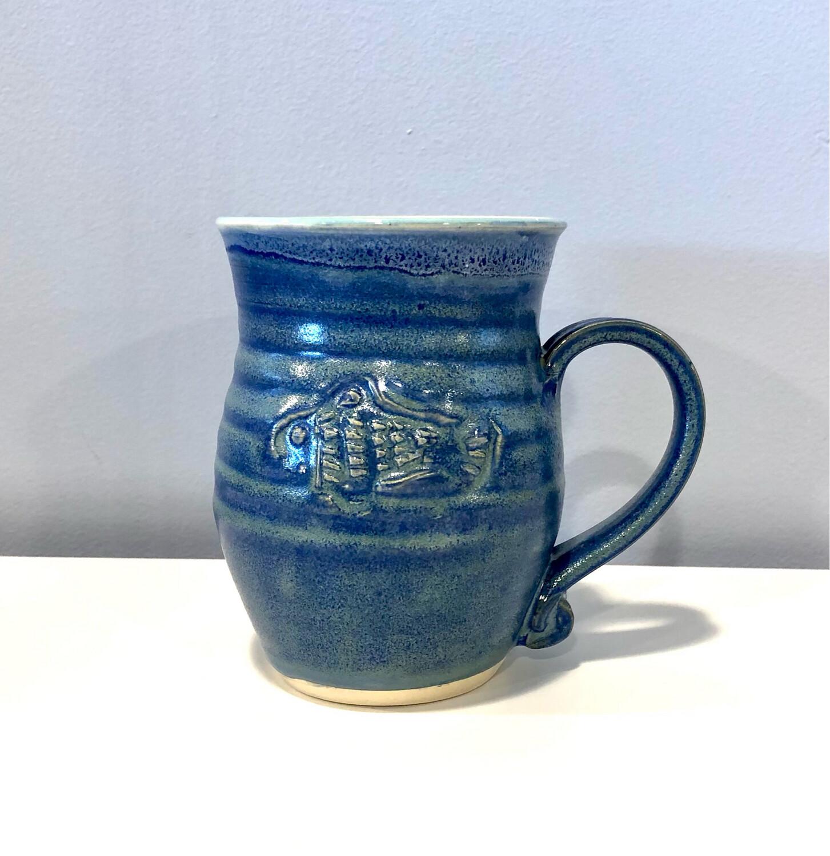Blue Fish Mug Gloria Dunbar