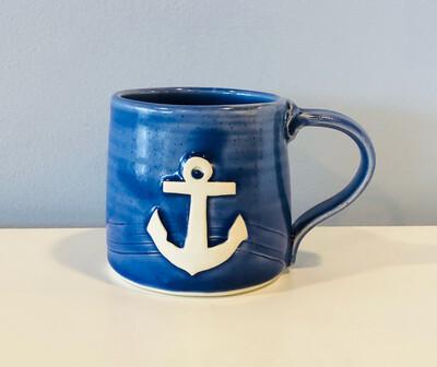 Dark Blue Anchor Mug GA