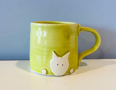 Lime Cat Mug GA