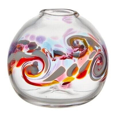 "Round Wave Vase - Southern Sunset 7"""