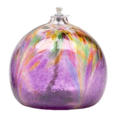Art Nouveau Oil Lamp - Purple