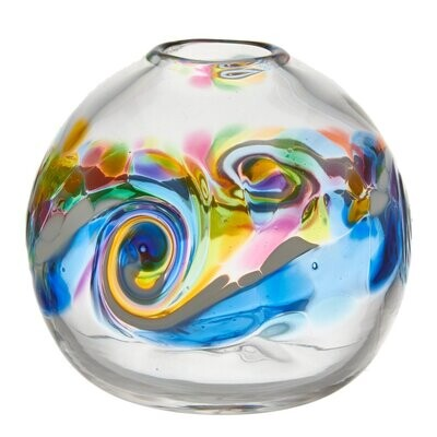 """Round Wave Vase - Winter Shadow 7"""""""