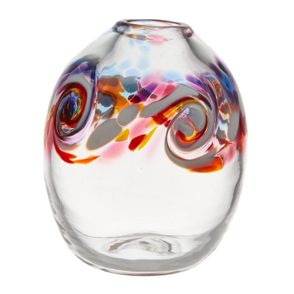 """Oval Wave Vase - Southern Sunset 7"""""""