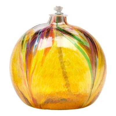 Art Nouveau Oil Lamp - Amber