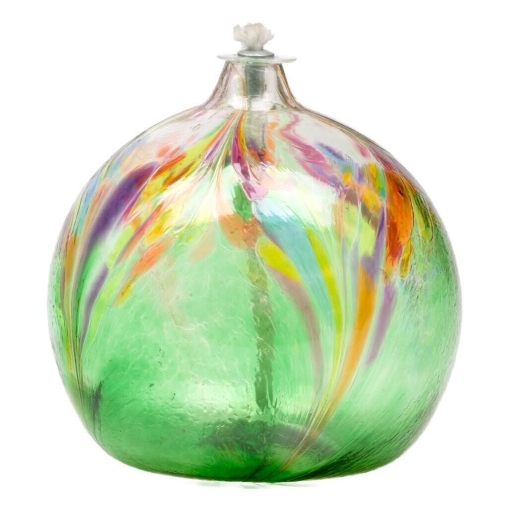 Art Nouveau Oil Lamp - Green