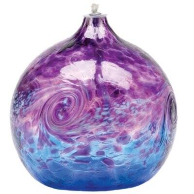 """Van Glow Oil Lamp - Purple & Blue 6"""""""
