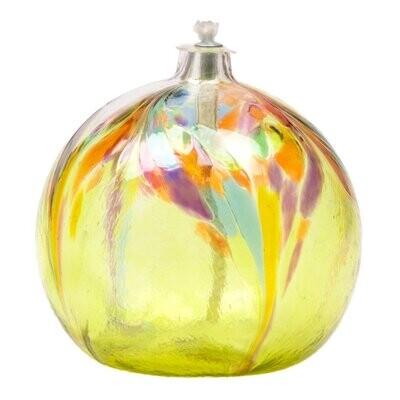 Art Nouveau Oil Lamp - Lime
