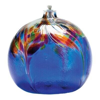 Art Nouveau Oil Lamp - Blue