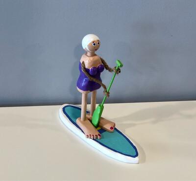 Purple Bathing Suit Paddle Boarder