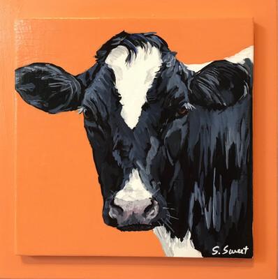 Holstein Cow on Light Canyon Orange #1