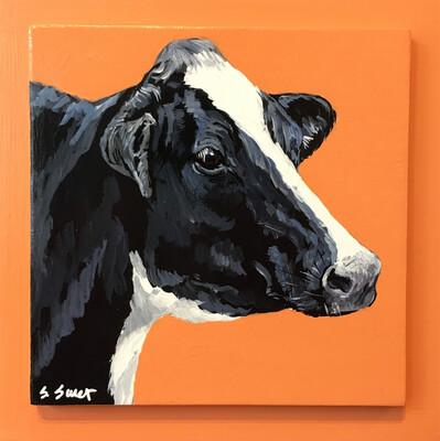 Holstein Cow on Light Canyon Orange #2