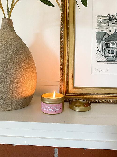 Circle & Wick Watermelon Travel Tin Candle