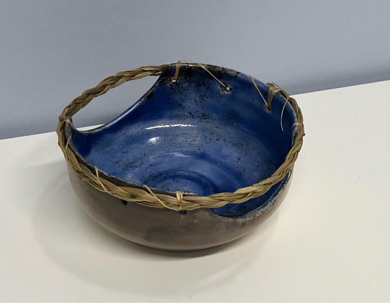 Nancy Oakley - Blue Smudge Bowl