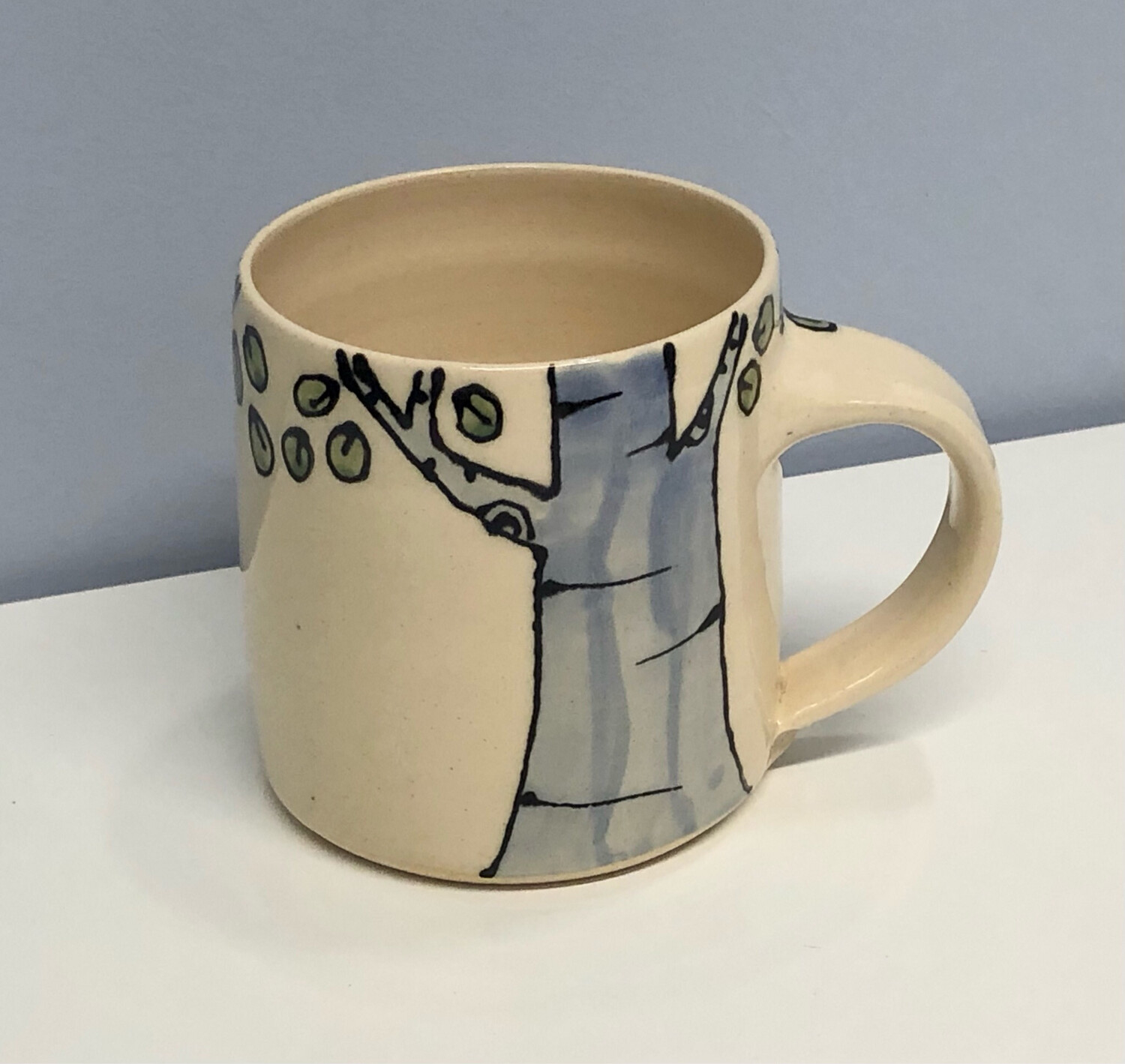 Branches Pottery- Birch Tree and Toadstool, Cream