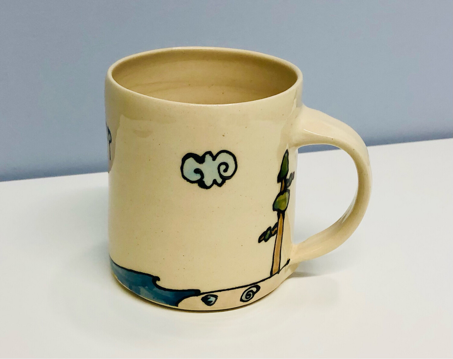 Branches Pottery- Go Jump In The Bay, Cream