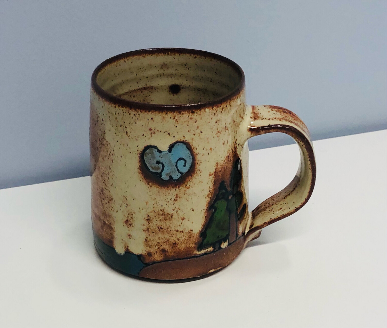 Branches Pottery- Go Jump In The Lake, Natural