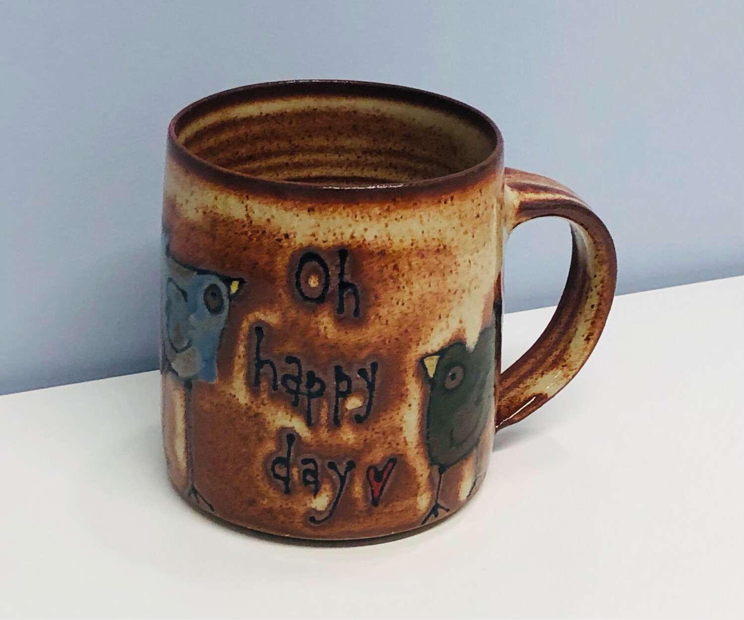 Branches Pottery- Oh Happy Day, Birds, Natural