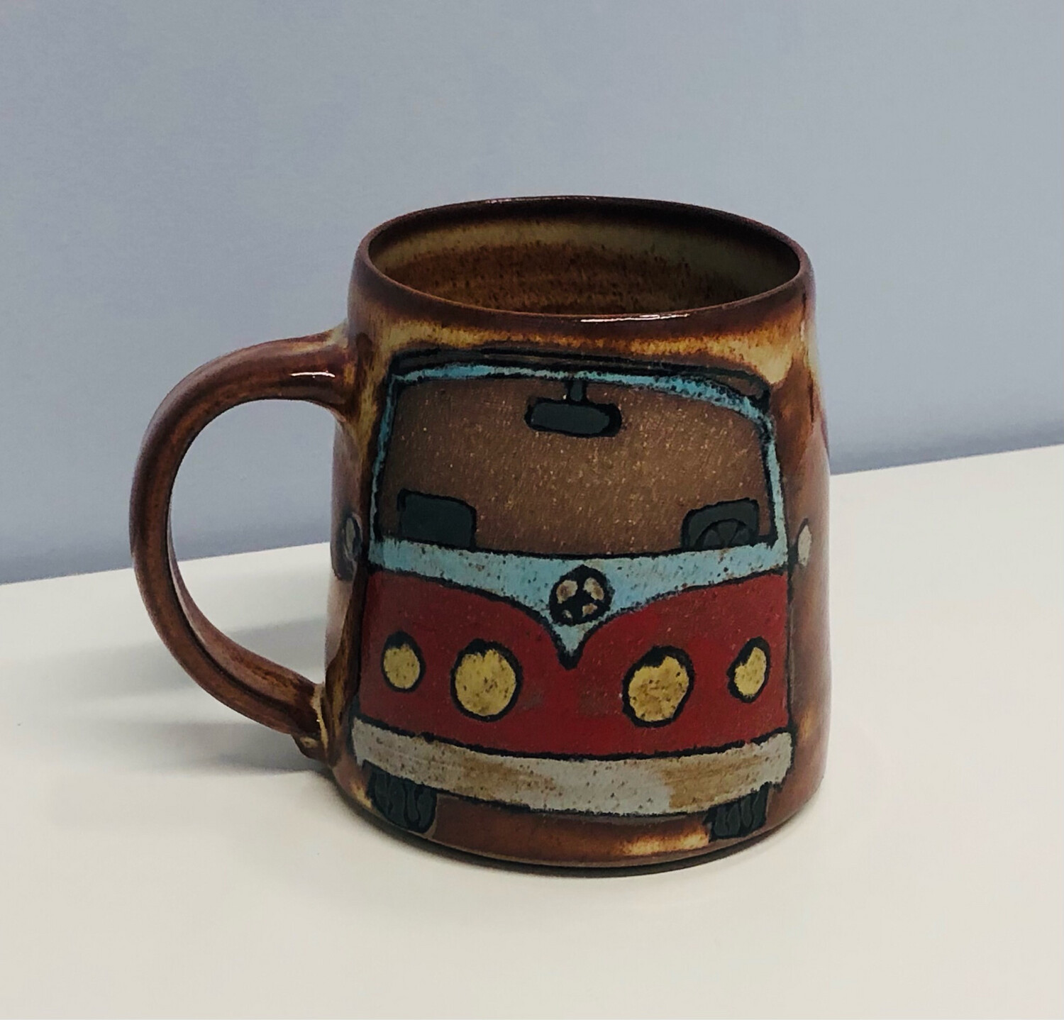 Branches Pottery- VW Happy Camper, Natural
