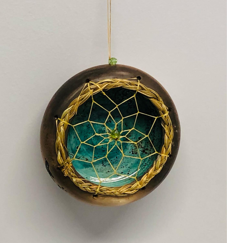 Nancy Oakley - Teal Dream Ornament