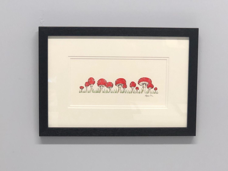 Red Mushroom Row - Amy Nemeth