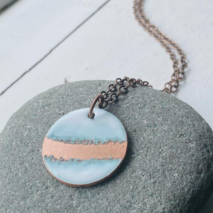 Seafoam Copper Circle - Aflame
