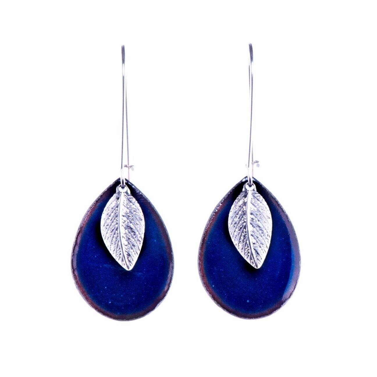 Leaf Drop Shimmer Blue - Aflame