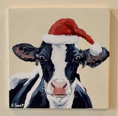 Kath the Holstein Cow on Buttermilk
