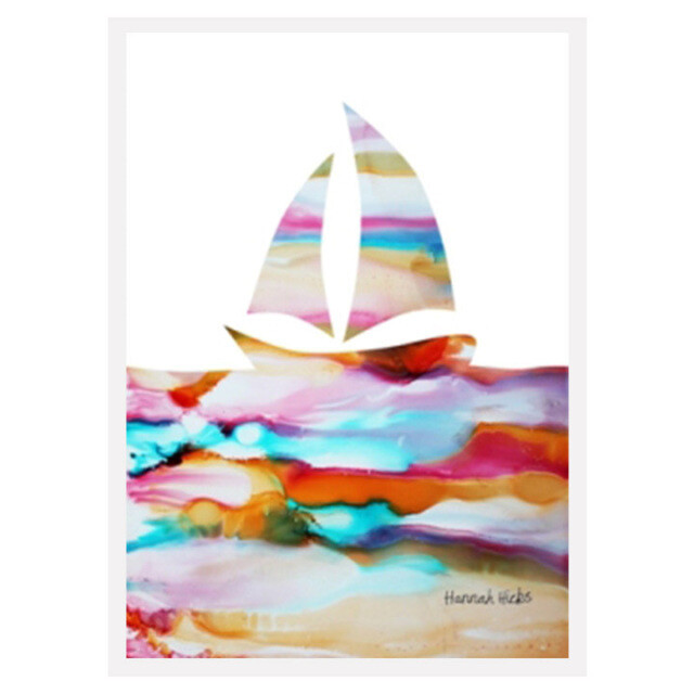Sailboat card - Hannah Hicks