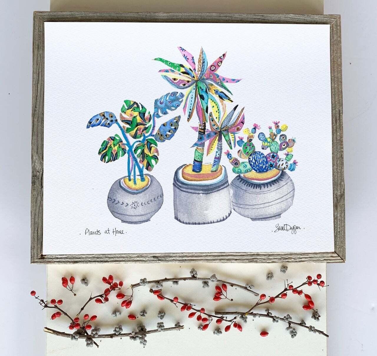 Plants at Home Print- Sarah Duggan