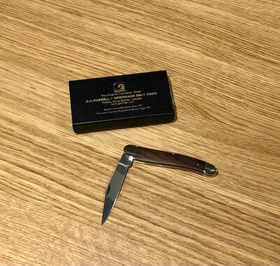 Rosewood Slimline Pocket Knife - Grohmann Knives