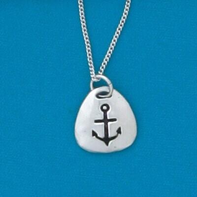 Anchor Triangle Charm Necklace- Basic Spirit