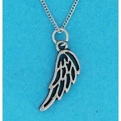 Angel Wing Charm Necklace- Basic Spirit