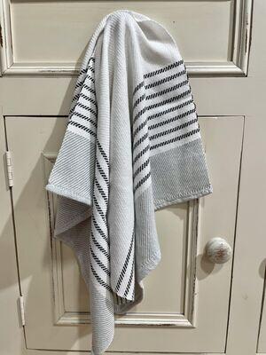 Mint with Black Stripes Tea Towel